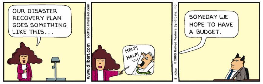 Chiste Dilbert presupuesto DRP